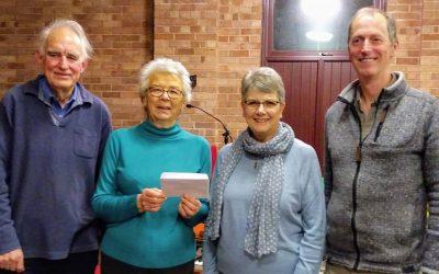 Ross Penyard Singers raise funds for Ross Meeting Centre.